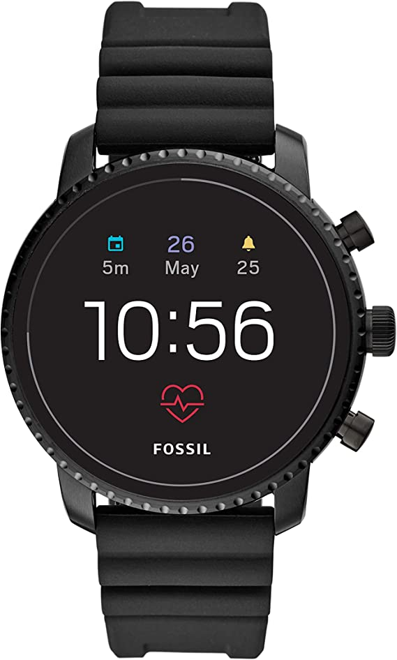 Fossil Men's Gen 4 Explorist HR Stainless Steel Touchscreen Smartwatch with Heart Rate