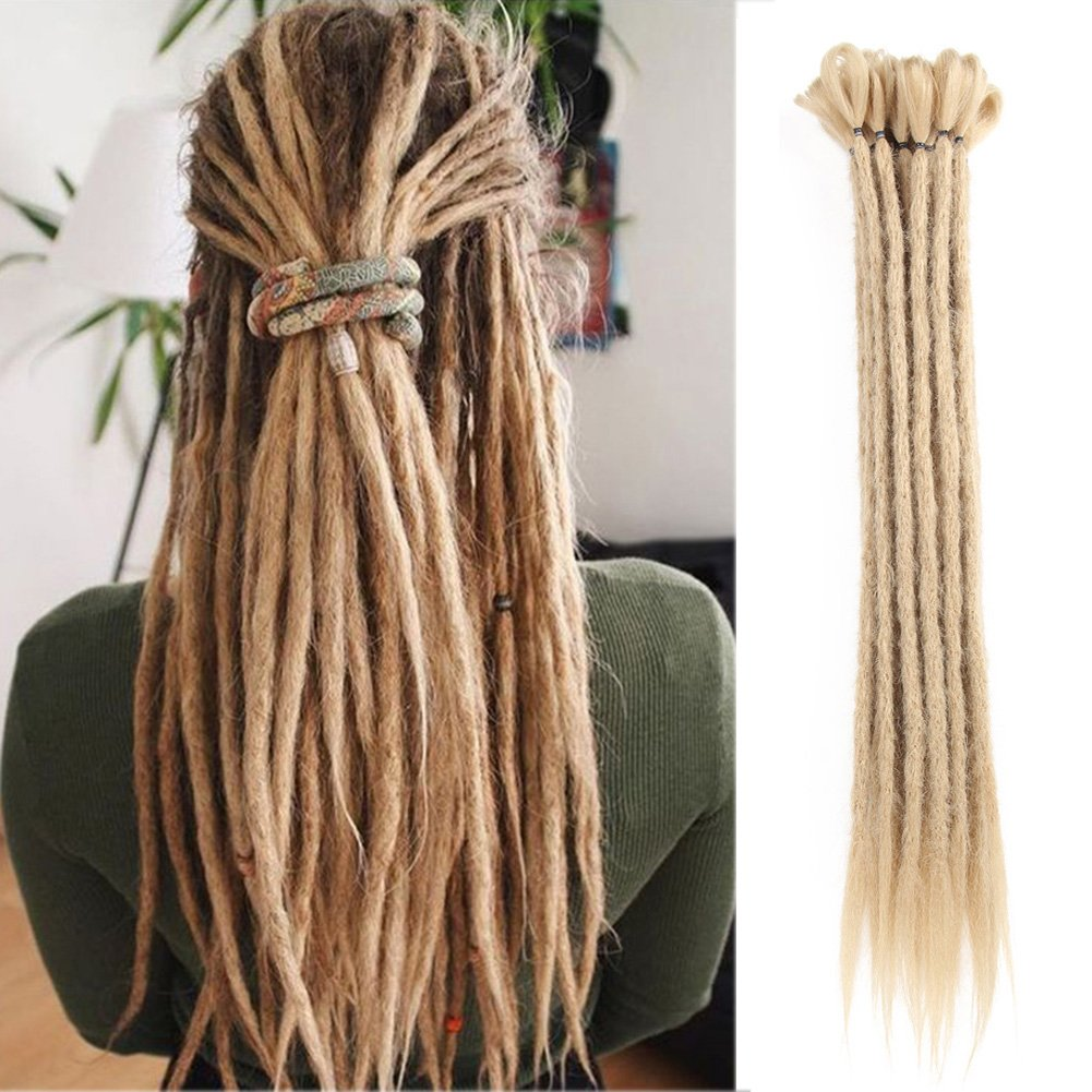 Amazon Dsoar Synthetic 20 Inch 12 Strands Handmade Dreadlocks
