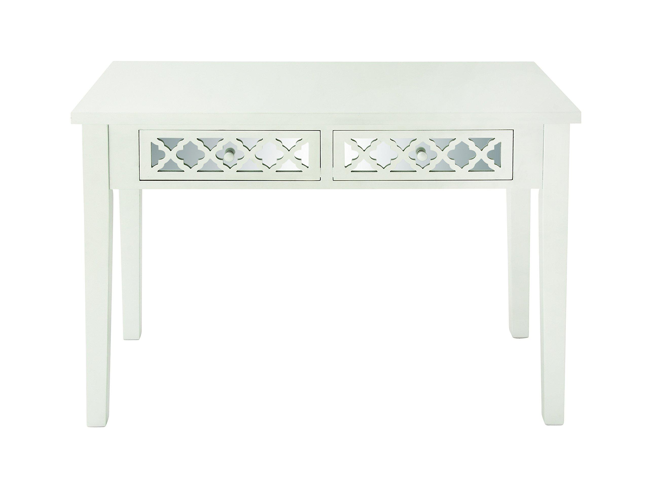Deco 79 48678 Wood Vanity Desk Mirror, 42''W/20''D/30''H