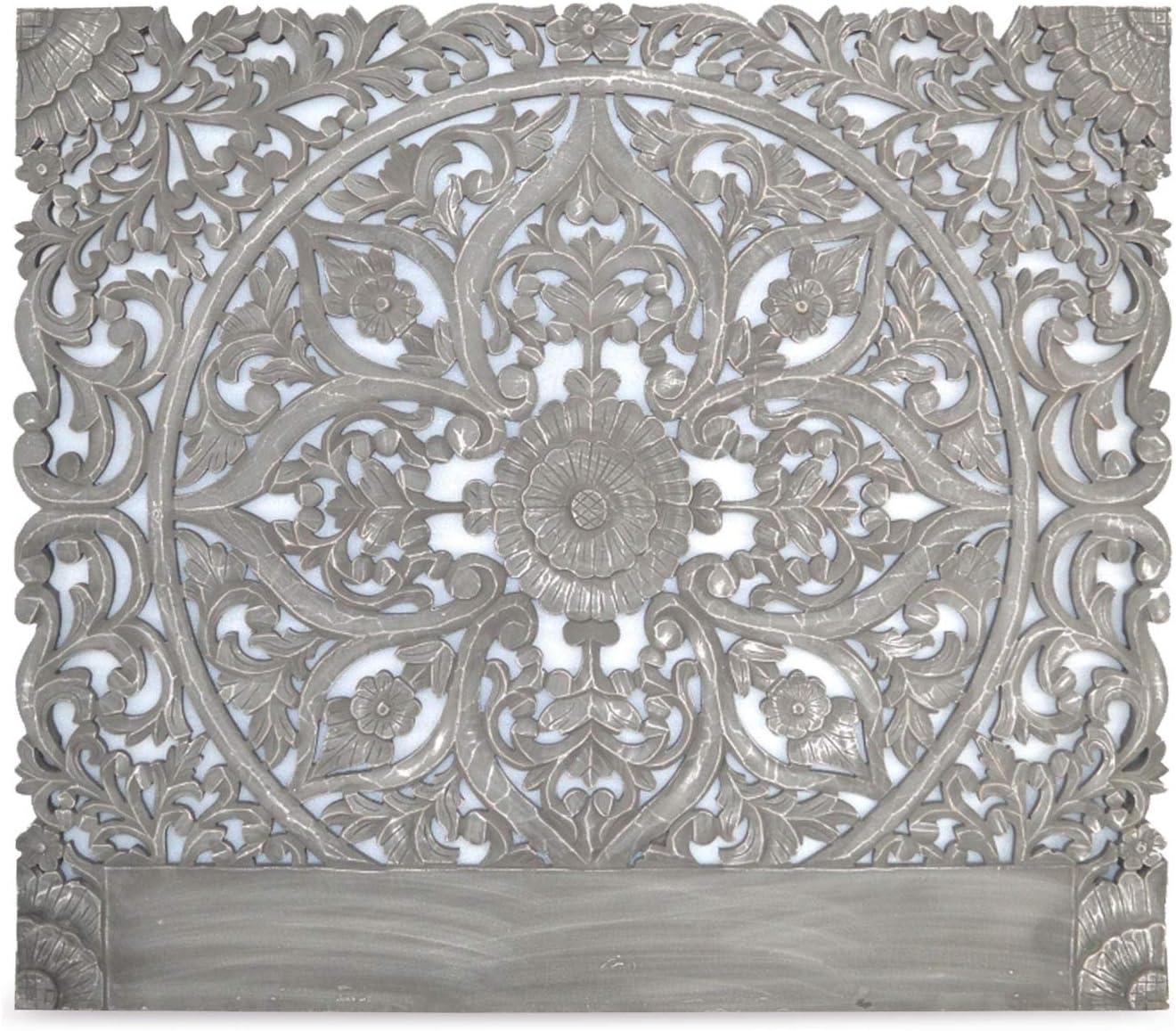 Couleur Blanche Menzzo T/ête de Lit 140 cm en Bois Sculpt/é Serena Moulures Florales pour Habiller votre Mur Dimensions: L140 cm x P3,5 cm x H140 cm Moderne et Originale