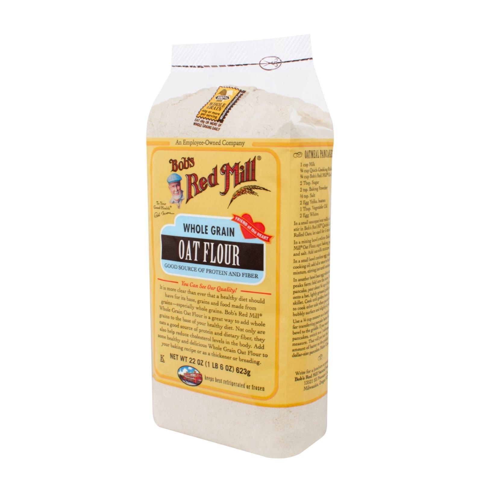 Bob's Red Mill Whole Grain Oat Flour - 22 oz - Case of 4