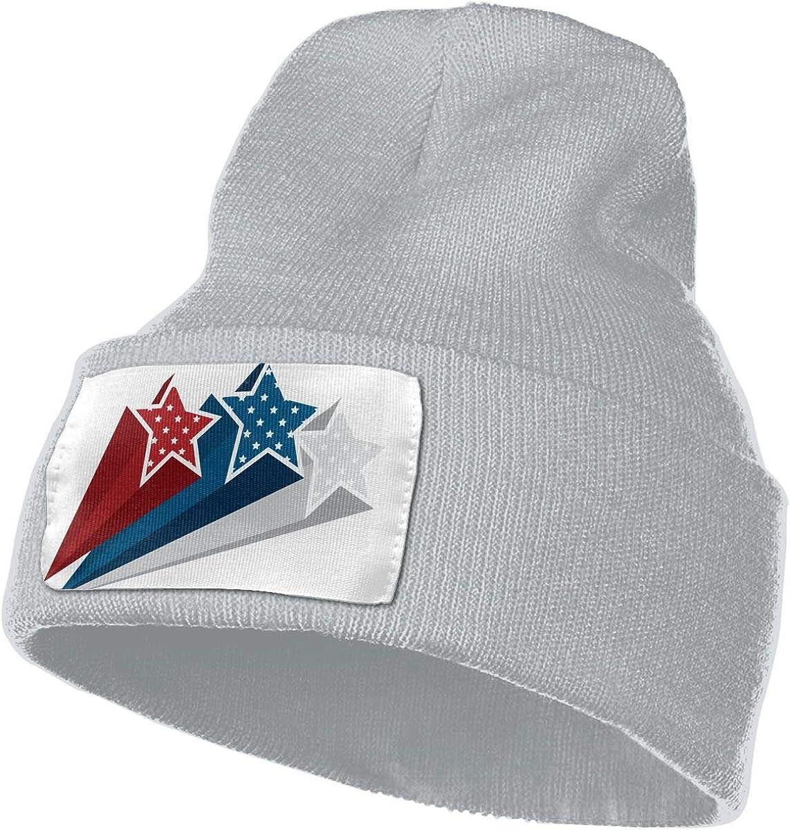 QZqDQ American Flag Star Unisex Fashion Knitted Hat Luxury Hip-Hop Cap