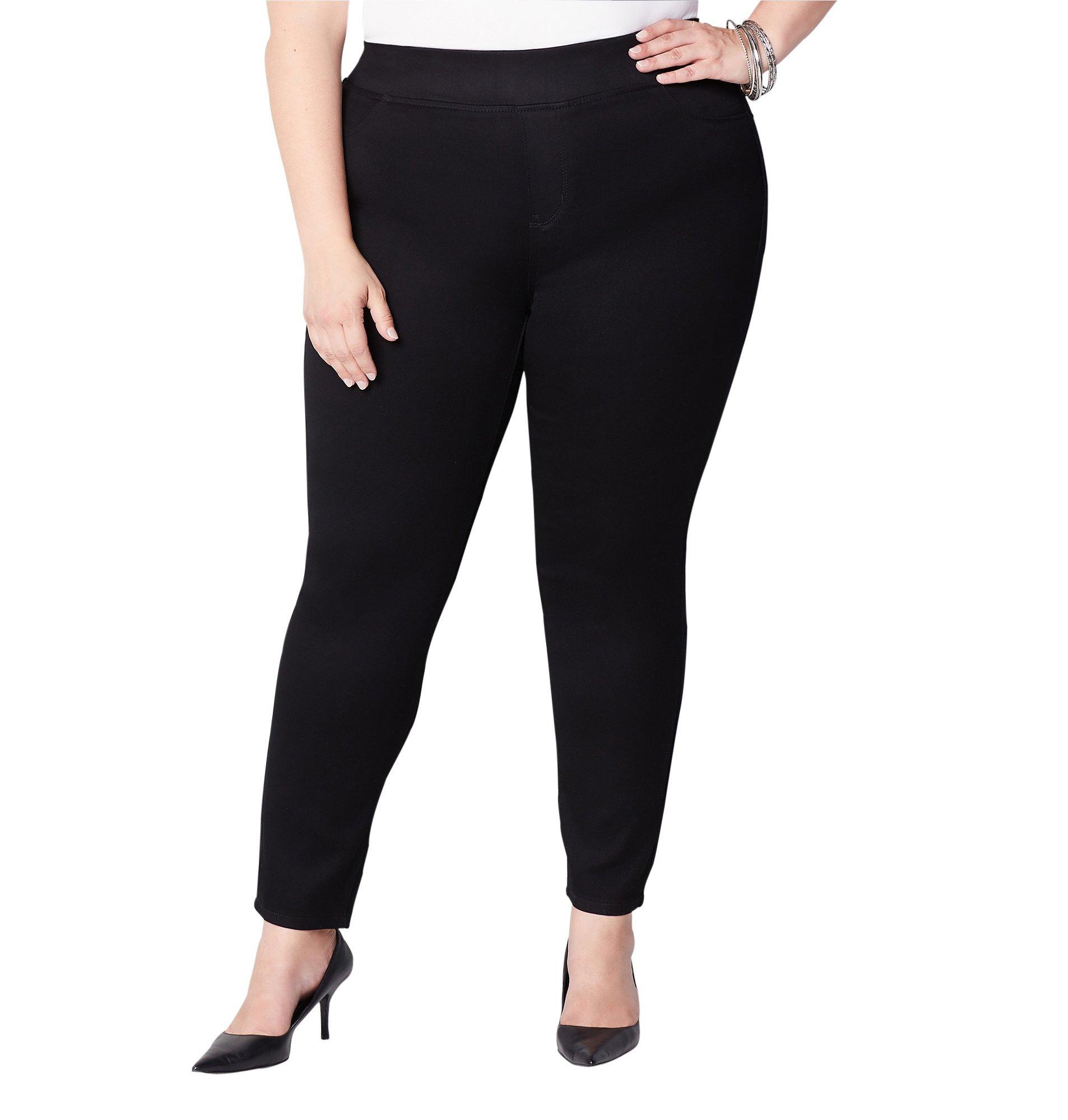 Avenue Women's Butter Denim Pull-On Skinny Jean in Black, 16 Black