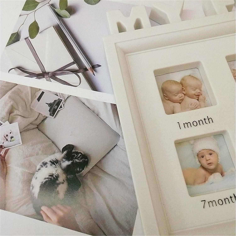 Marco de Fotos y Huellas de Beb/é para Ni/ño y Ni/ña Marco m/últiple Mi Primer a/ño Portafotos Regalos de Recuerdo Cuadro Fotos y Recuerdos para Bebes #2