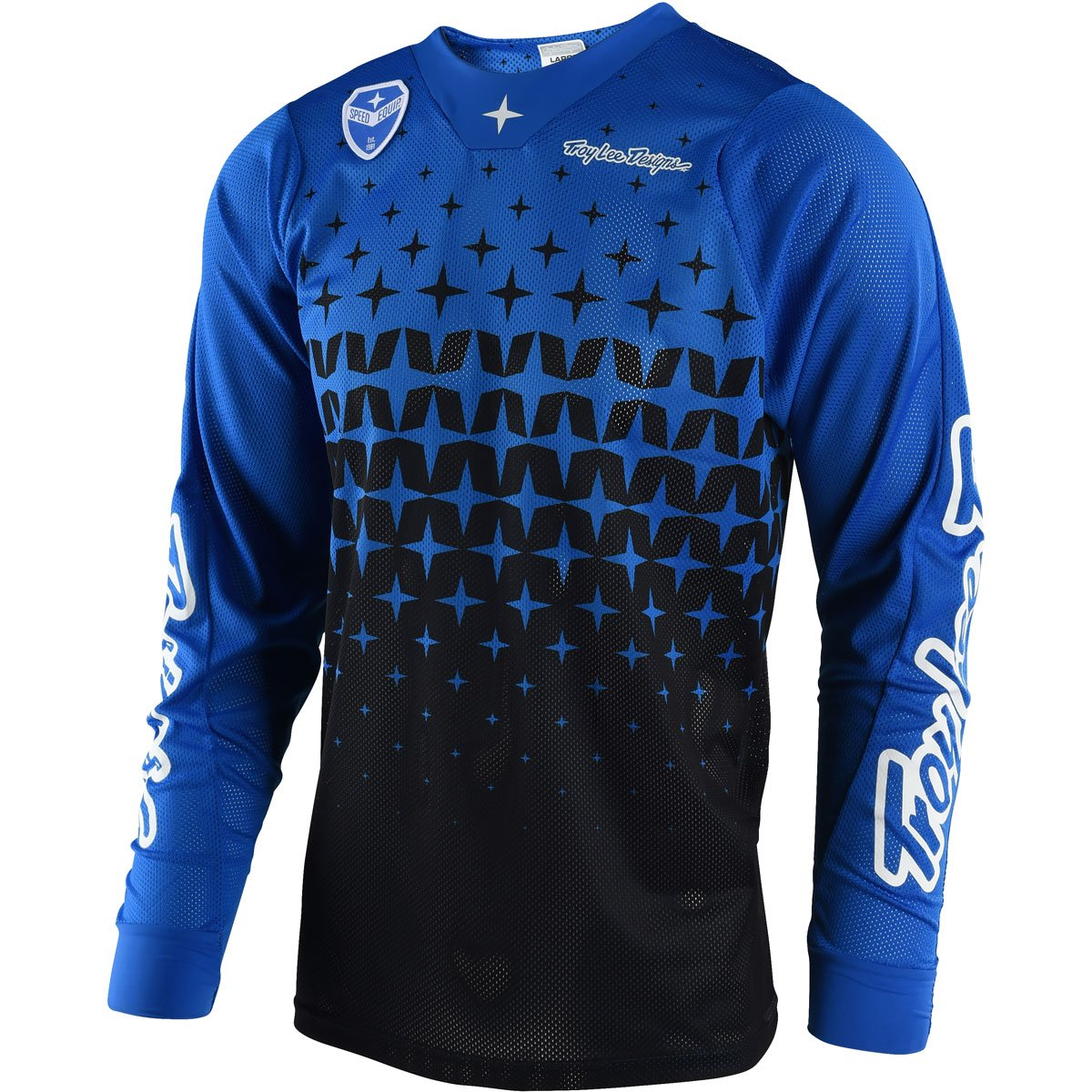 2018 Troy Lee Designs SE Air Megaburst Men's Jersey-Blue/Black-L