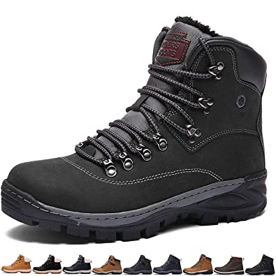 7bea1b71855 Sixspace Mens Womens Winter Boots Warm Light Snow Walking Boots Ladies Faux  Fur Lined Ankle Shoes Footwear with Non-Slip Rubber Sole for Casual Walking  ...
