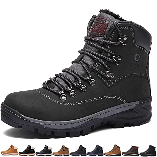 4ee3fc52bf0 Sixspace Mens Womens Winter Boots Warm Light Snow Walking Boots Ladies Faux  Fur Lined Ankle Shoes Footwear with Non-Slip Rubber Sole for Casual ...