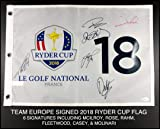 2018 Team Europe Autograph Signed Ryder Cup Field