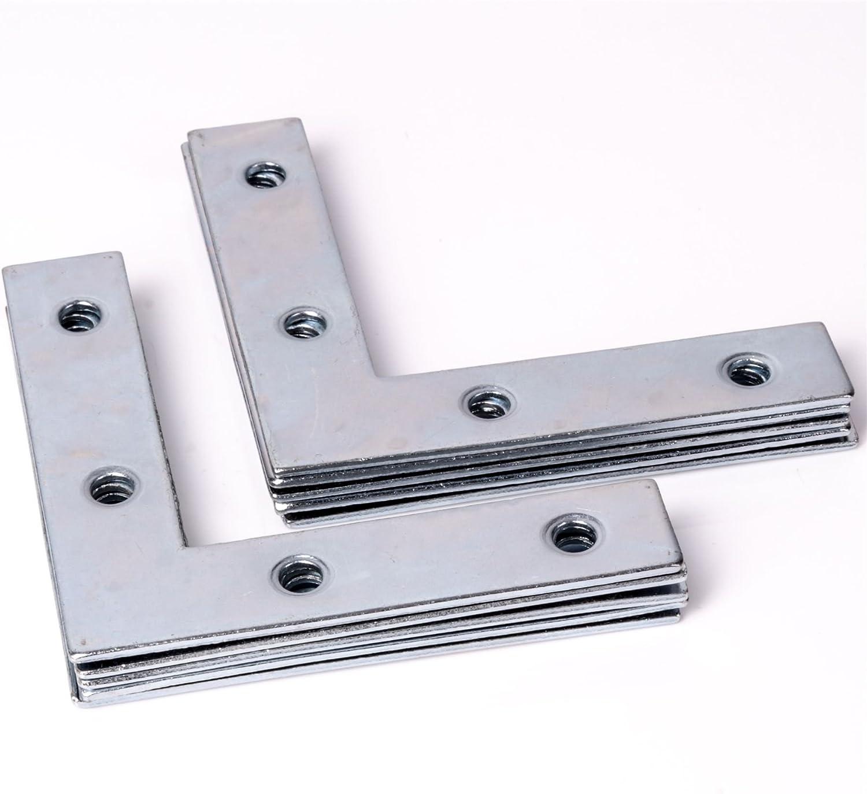 Pack of 10 75mm Flat Steel Angle Bracket Braces