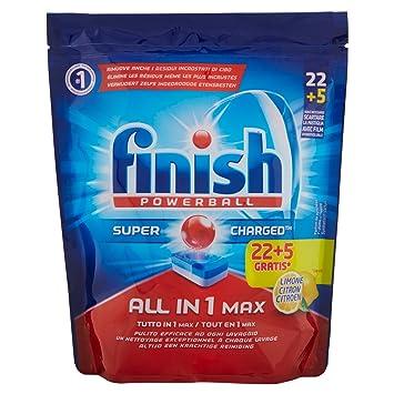 Pastillas para lavavajillas Finish todo en uno, 22 + 5 pastillas ...