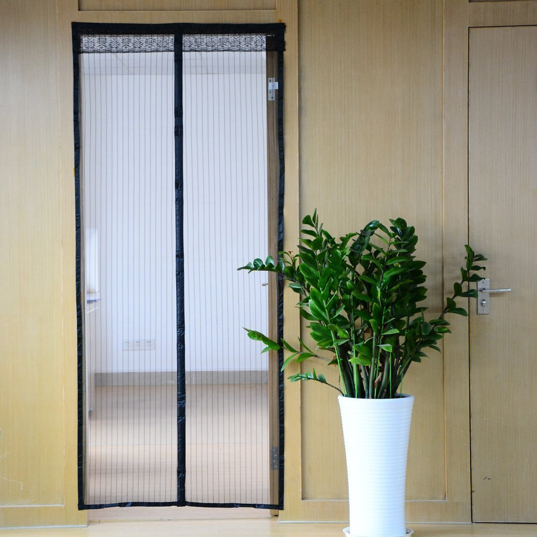 Anti-mosquito Magnetic Screen Door Curtain , Hang Rui Upscale Mosquito and Mute Magnetic Soft Gauze Door Curtain (Black)