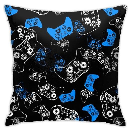 Video Game Blue On Black Funda de cojín para sofá ...