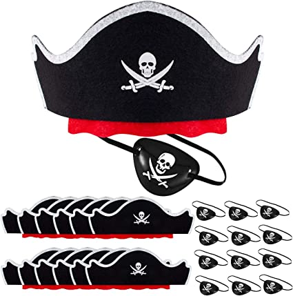 Skull Pirate Eye Patch Use For CosPlay or Theater! Dress-Up Halloween