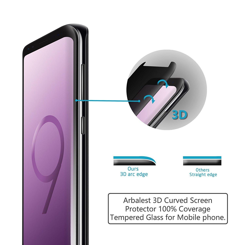 amazon com samsung galaxy s9 plus privacy screen protector tempered