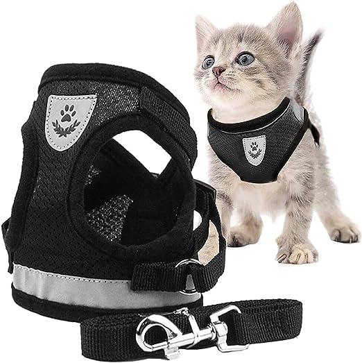 Toulifly Arnés Gato,Arnés para Gatos,Arnés y Correa para Gato,Cat Harness,Cat Vest Harness, Ajustable Respirante Pequeña Chaleco para Cachorros, Perros Pequeños y Gatos (XS): Amazon.es: Productos para mascotas