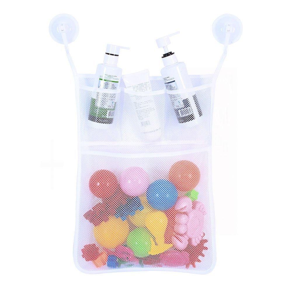 Spielzeug ordentliche Aufbewahrung Saugnapf Tasche Badezimmer Netz Autone Baby Badespielzeug Organizer