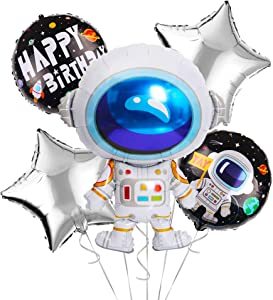 OMG Party Factory - Outer Space Birthday Balloons | Perfect Addition to Solar System, Two The Moon, Blast Off or Out of This World Themed Parties | Astronaut Decorations/Supplies for Kids (Astronaut)