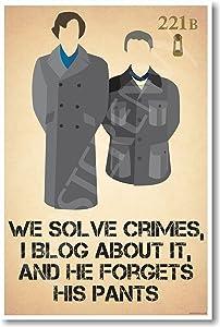 Sherlock Holmes & John Watson - We Solve Crimes - New Poster