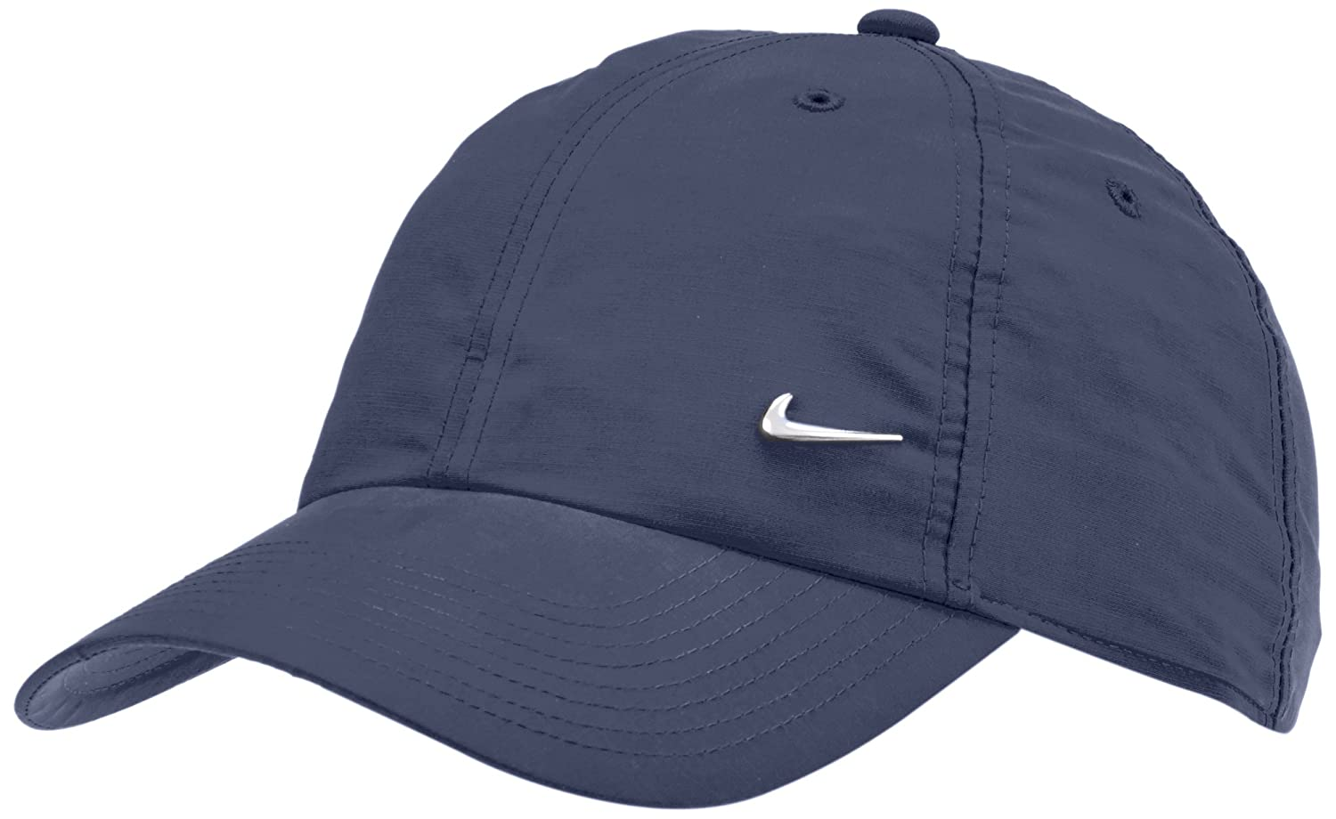 Amazon.com  Nike Metal Swoosh Black Unisex Adult Baseball Cap   Hat One Size   Sports   Outdoors f3dc1ba19200