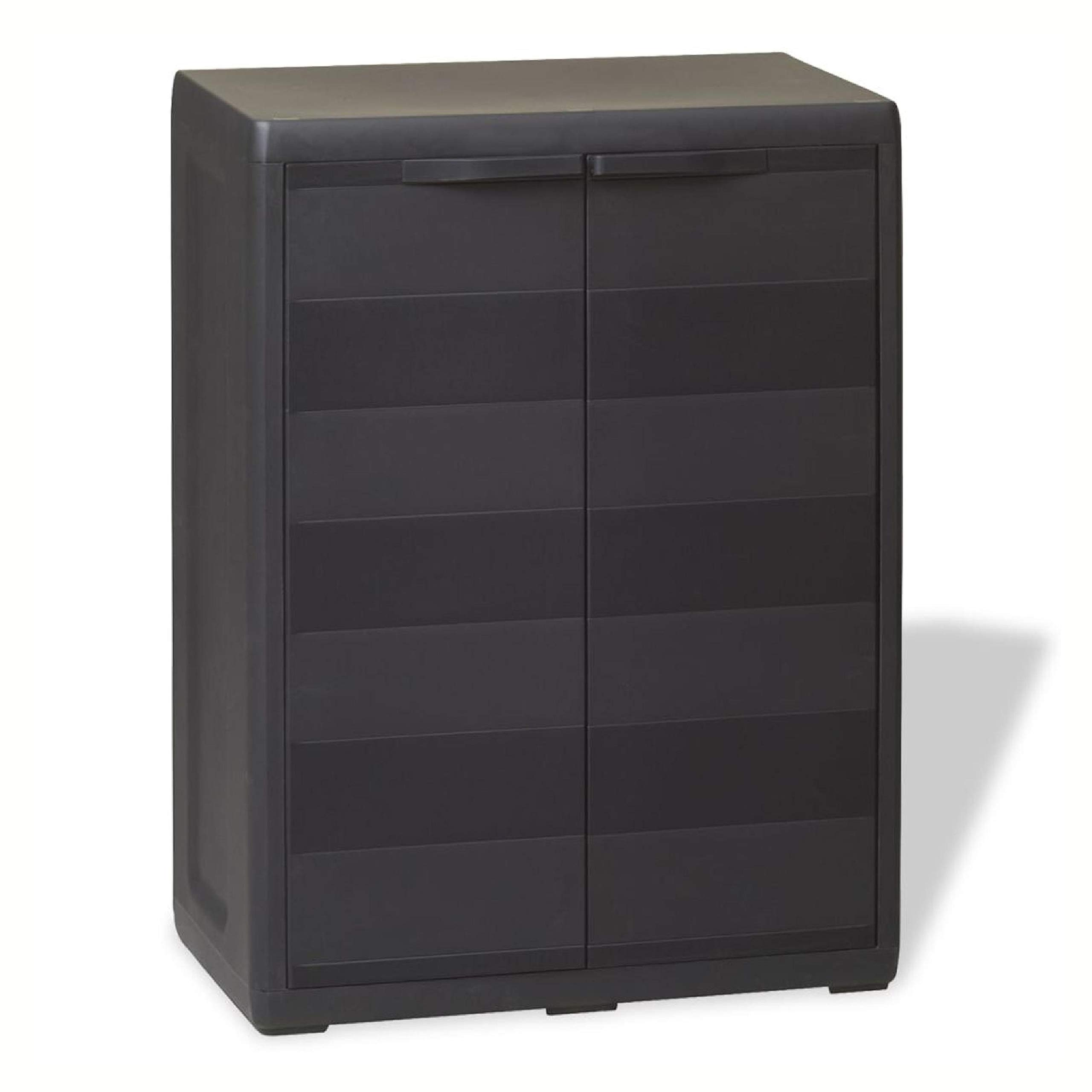 Storage Cabinet & Locker, Garden Storage Cabinet with 1 Shelf Black