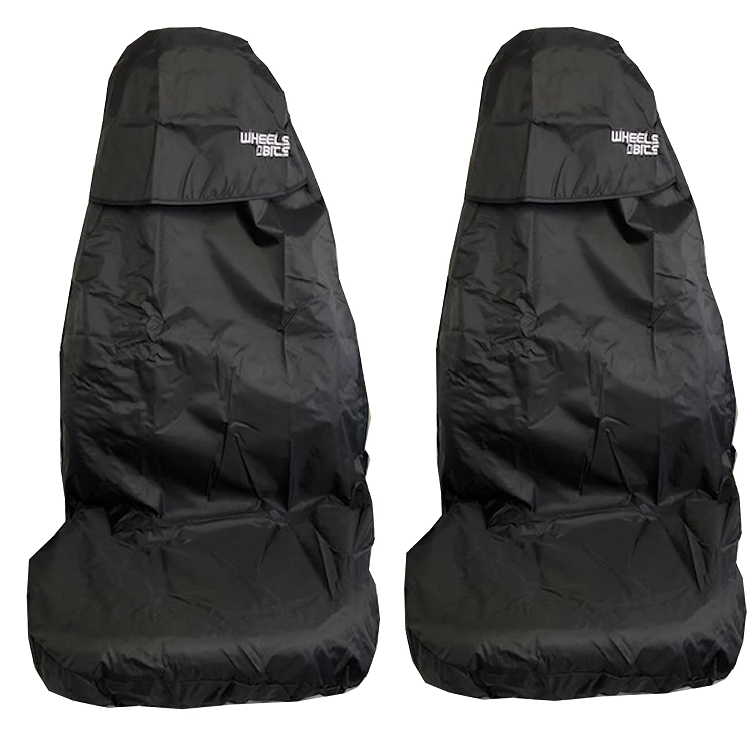 H Duty Black Waterproof Seat Covers//Protectors 2 x Fronts AUDI A2