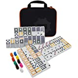 Mexican Train Dominoes Game,91 Piece Double 12 Color Dominoes Set
