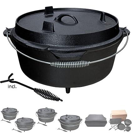 Olla de Hierro Fundido Dutch Oven para Camping Barbacoa BBQ ...