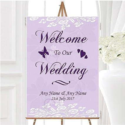 Vintage Lace - Cartel de boda personalizable con texto ...