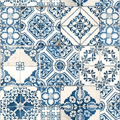 Mediterranian Tile Peel and Stick Wallpaper, 20.5
