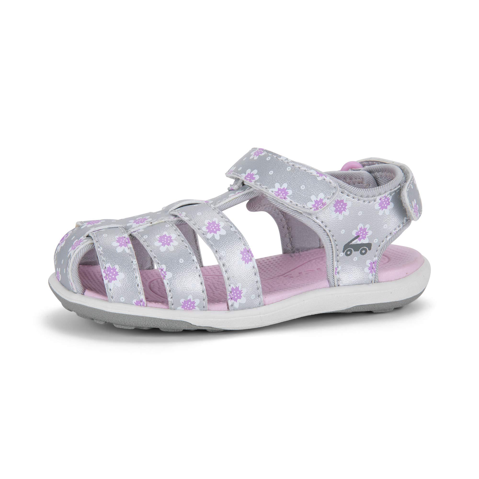 See Kai Run - Paley II Water-Friendly Sandals for Kids, Silver/Purple, 6 by See Kai Run