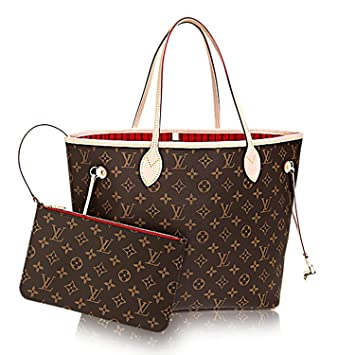 3813b0e8a448 Louis Vuitton Authentique M41602 Neverfull mm Monogram sur Toile Cherry Sac  à Main Article   M41177