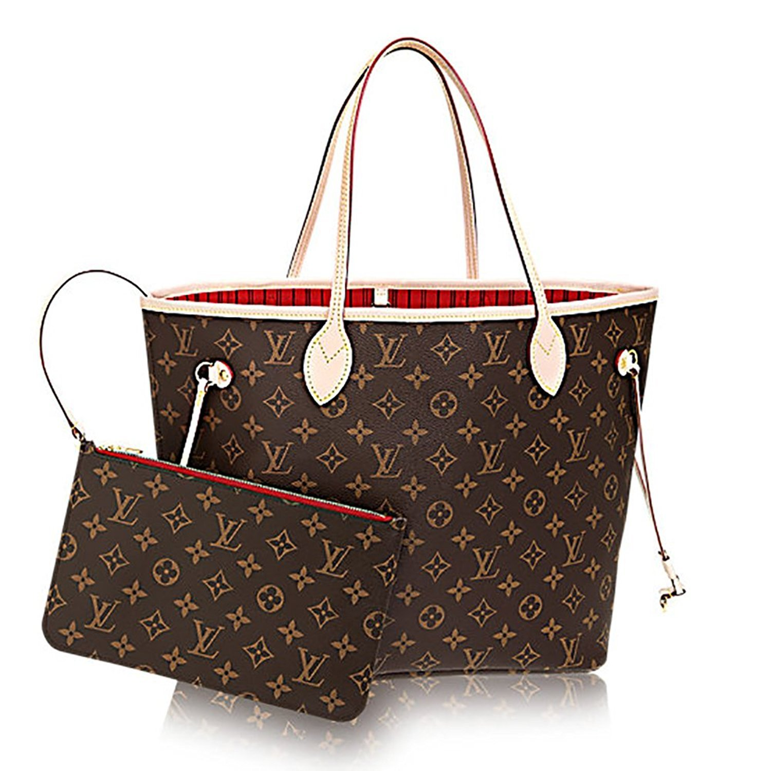 Louis Vuitton Monogram Canvas Cherry Neverfull MM M41177  Handbags   Amazon.com 07273c46ffe1d