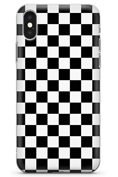 huge discount 3ab1b 60ff4 Case Warehouse iPhone 10 Case, iPhone X Case, Black Checkered Phone Case  Clear Ultra Thin Lightweight Gel Silicon TPU Protective Cover |  Checkerboard ...
