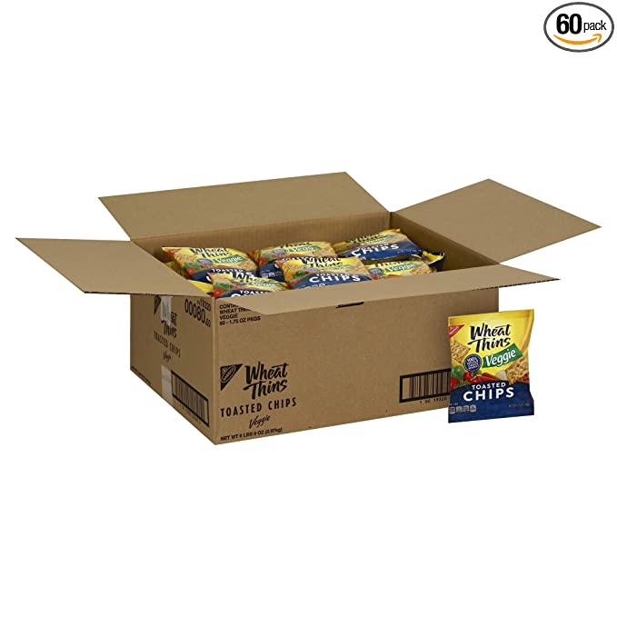 Amazon Com Wheat Thins Toasted Chips Veggie 1 75 Ounce Pack Of 60