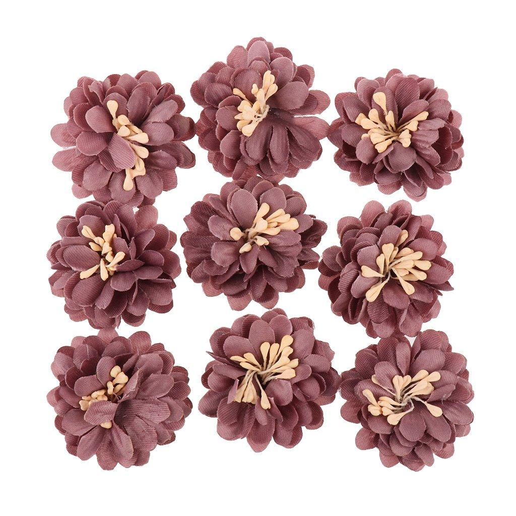Sharplace 9pcs Pivoine Tissu Fleur Applique /à Coudre /à Coller DIY D/écoration pour Mariage Loisif Cr/éatif Rose
