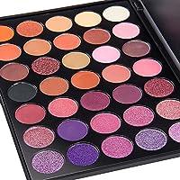 DONGXIUB 35 Color Glitter Gold Orange Eyeshadow Warm Colour Smoky Makeup Palette Professional Eyeshadow Make Up Kit Set (P+)