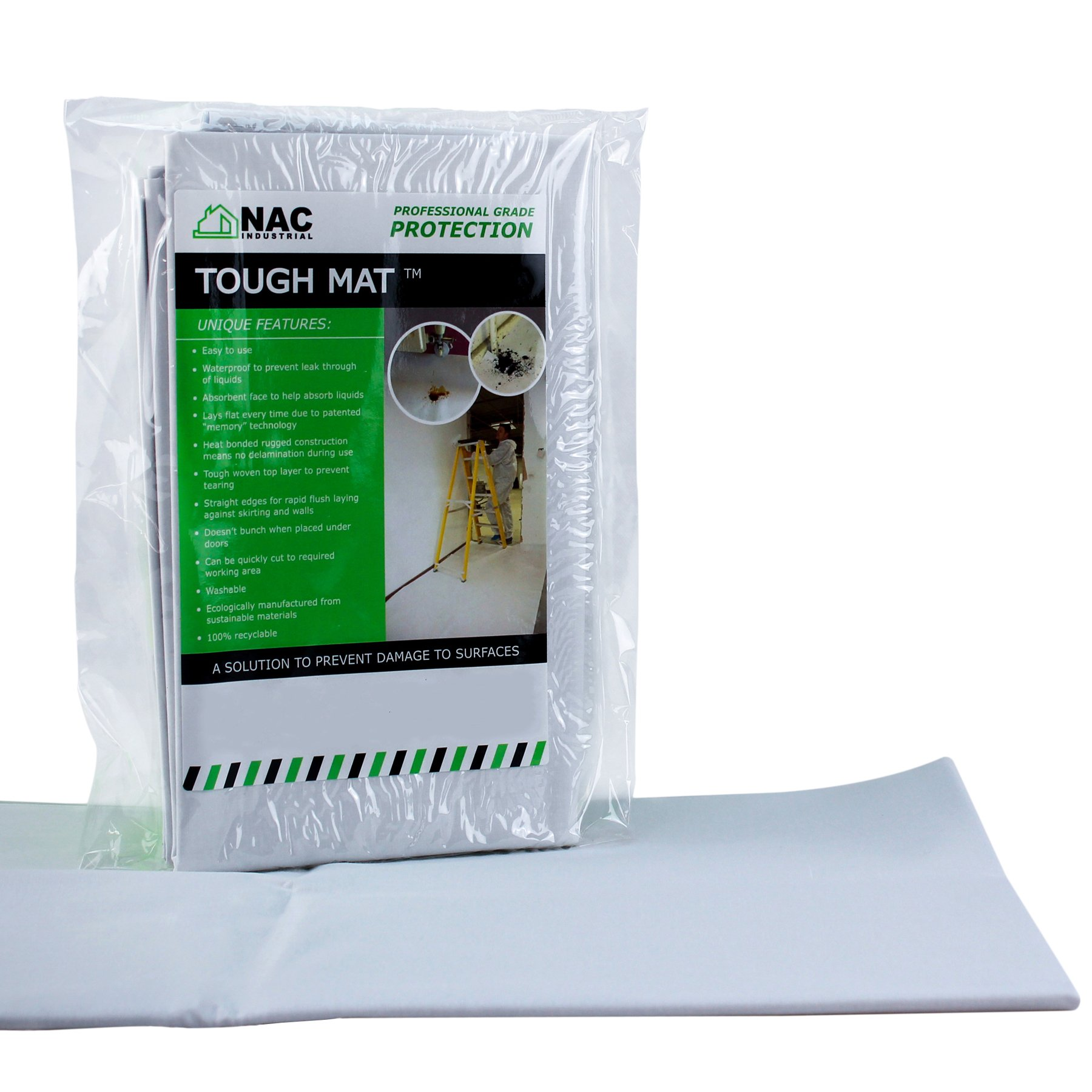 NAC INDUSTRIAL Waterproof Canvas Drop Cloth TOUGH MAT 4' x 4' - Professional Surface Protection