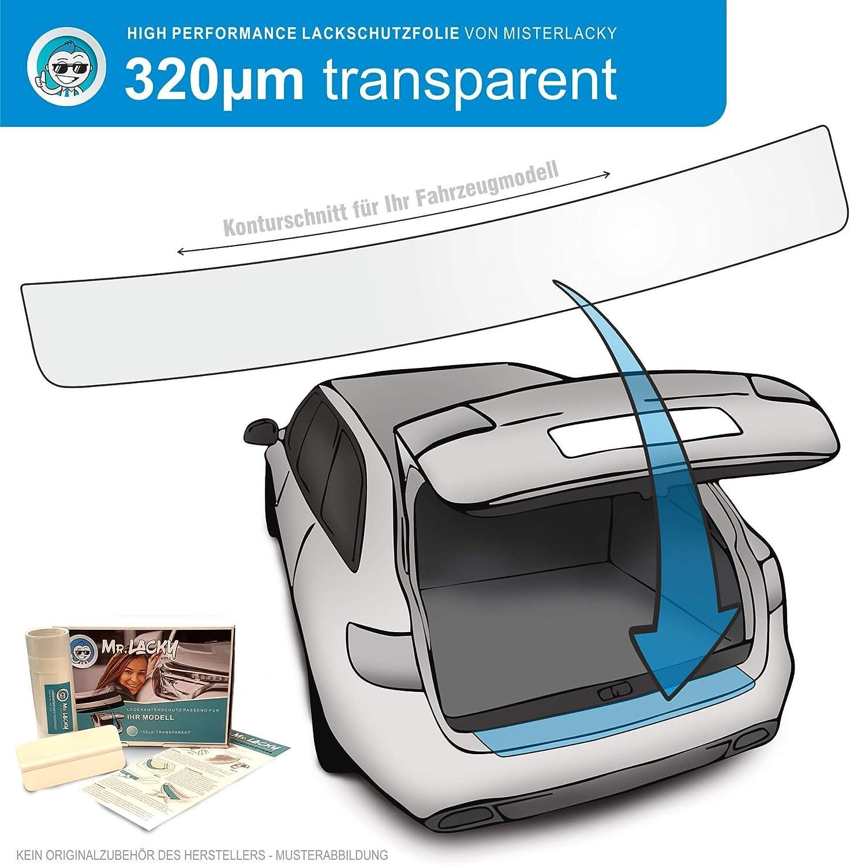 Lackschutzfolie mit Rakel als Ladekantenschutz Folie passend f/ür Kia Venga ab BJ 01//2010 in transparent 320/µm MisterLacky