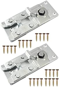 sectional Sofa Connector ,2 Pcs Metal Sectional Sofa Interlocking Furniture Connector with Screws Interlocking Furniture Connector with 24 PSC Screws,