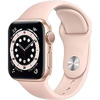 Apple Watch Series 6 (GPS, 40-mm) kast van goudkleurig aluminium - Rozenkwarts sportbandje