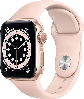AppleWatch Series6 (GPS, 40 mm) Caja de aluminio en oro - Correa deportiva rosa arena