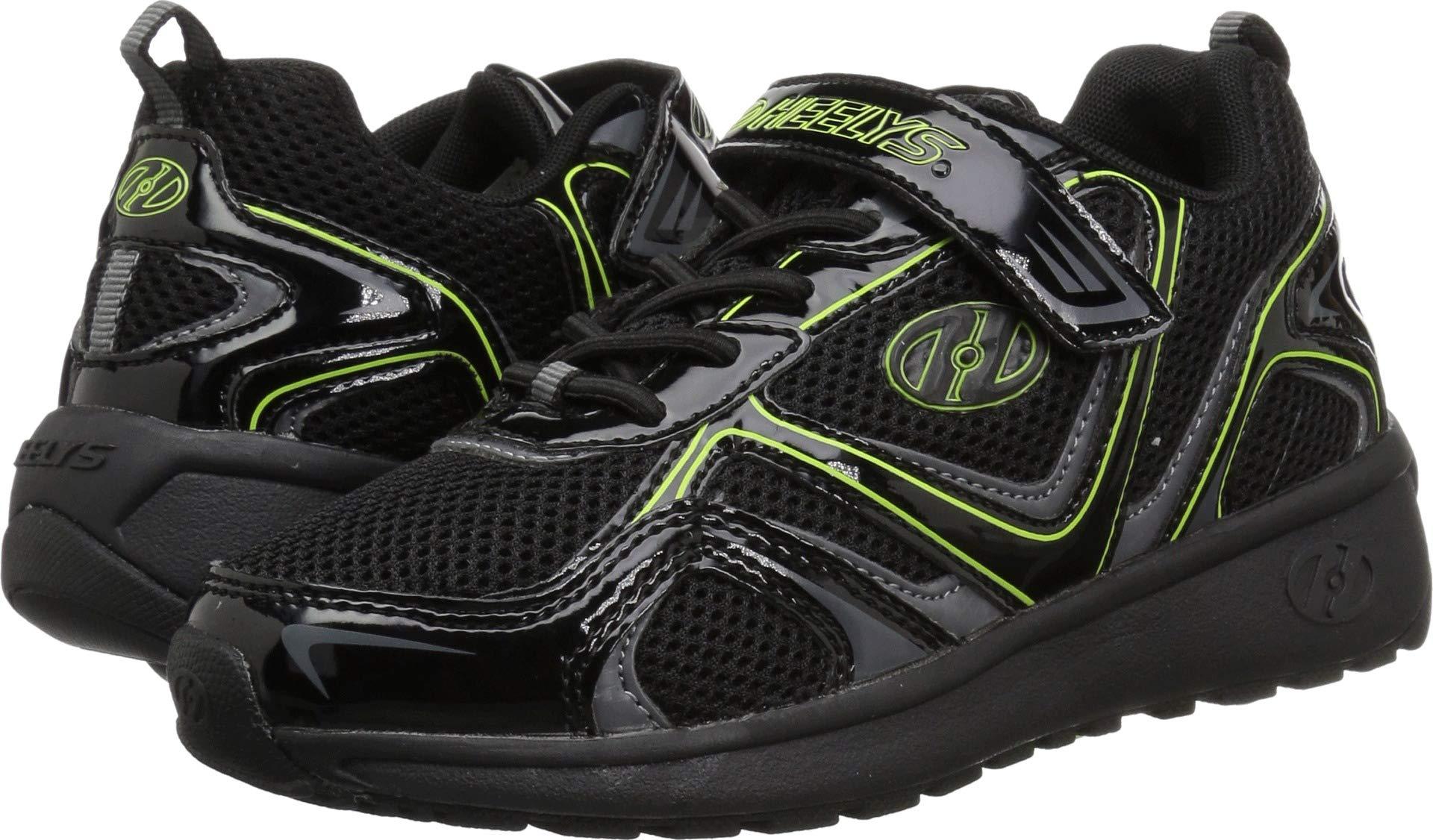 Heelys Boys' Rise X2 Tennis Shoe, Black/Charcoal/Bright Yellow, 13c Medium US Little Kid