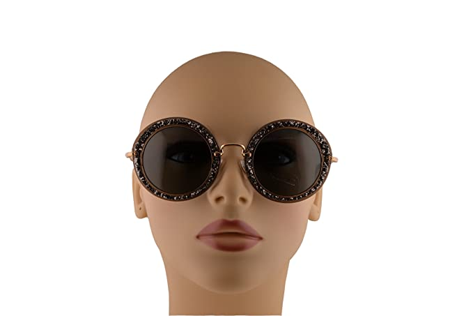 12ebe7610b6d Miu Miu MU13NS Sunglasses Smoke Glitter Silver w Gray Lens IAH1A1 SMU13N  For Women  Amazon.ca  Clothing   Accessories