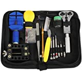 BTSKY™ Portable 144 PCS Watchmaker Watch Repair Tool Kit Set Back Case Opener Adjuster Remover Spring Pin Bar