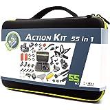 DeKaSi Action Camera Accessories Kit for GoPro Hero Max 7 6 5 4 3+ 3 2 1 Hero Session 5 Black Accessory Bundle Set for Yi AKASO Apeman (GoPro-Accessories-Case-kit-Max)