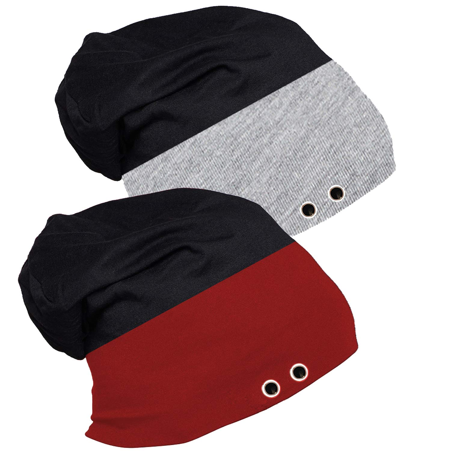 e5f374a52 Lime Men's Poly Cotton Beanie Cap Pack of 2 (Blue): Amazon.in ...