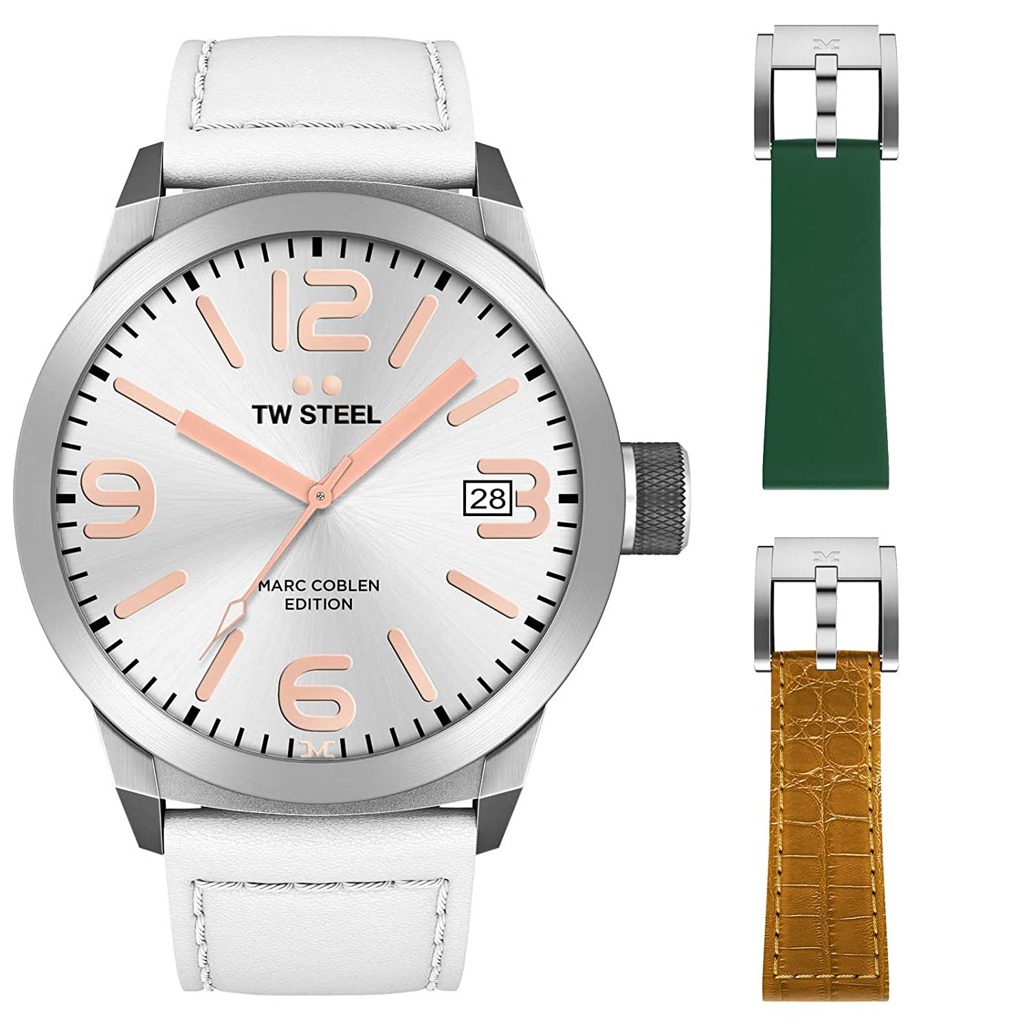 TW Steel Marc Coblen Edition 50 MM Set mit 2 ArmbÄndern TWMC44 - SET81