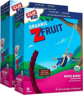 product image for CLIF KID ZFRUIT - Organic Fruit Rope - Mixed Berry Flavor - (0.7 Ounce Rope, Lunch Box Snacks, 36 Count)