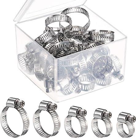 Colliers de serrage Pinces Jubilee Kit Pinces toute taille 3 M x 8 mm 8 pinces réglable conduit