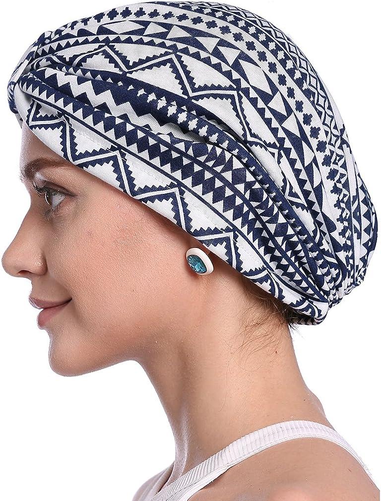 hikong 2pcs Frauen muslimische Kopftuch Indische Turban-H/üte Turbanm/ütze Kopfbedeckung Schlafm/ütze f/ür Haarverlust Krebs Cap Chemotherapie,Onesize Chemo